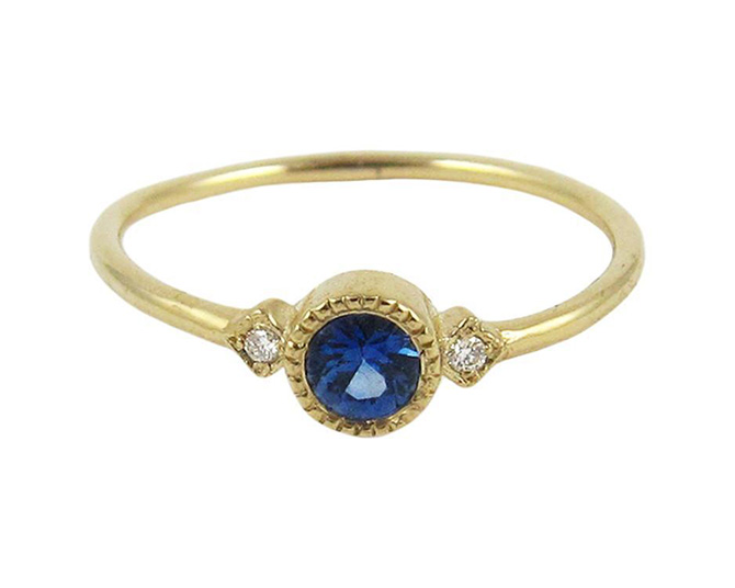 Jennie Kwon Sotto Voce sapphire ring