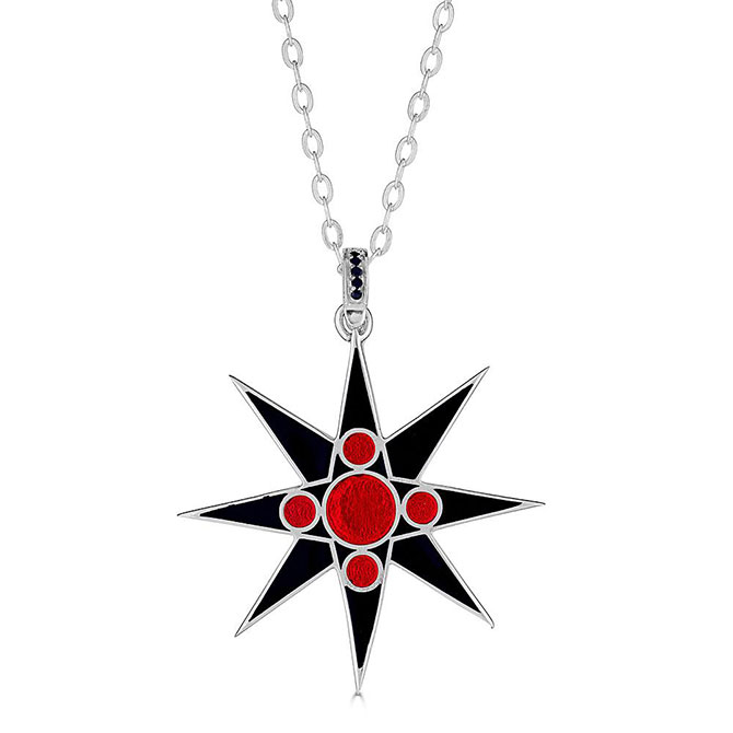 May Came Black and Red All Over necklace