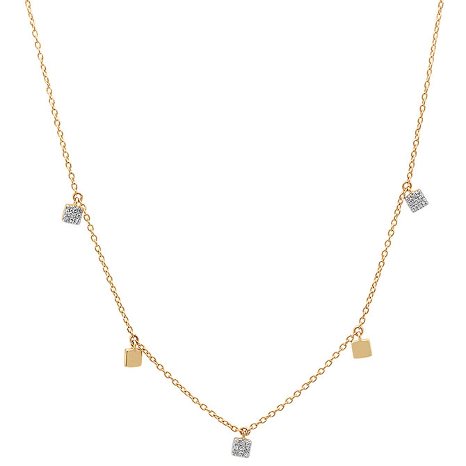 Eriness mini square necklace
