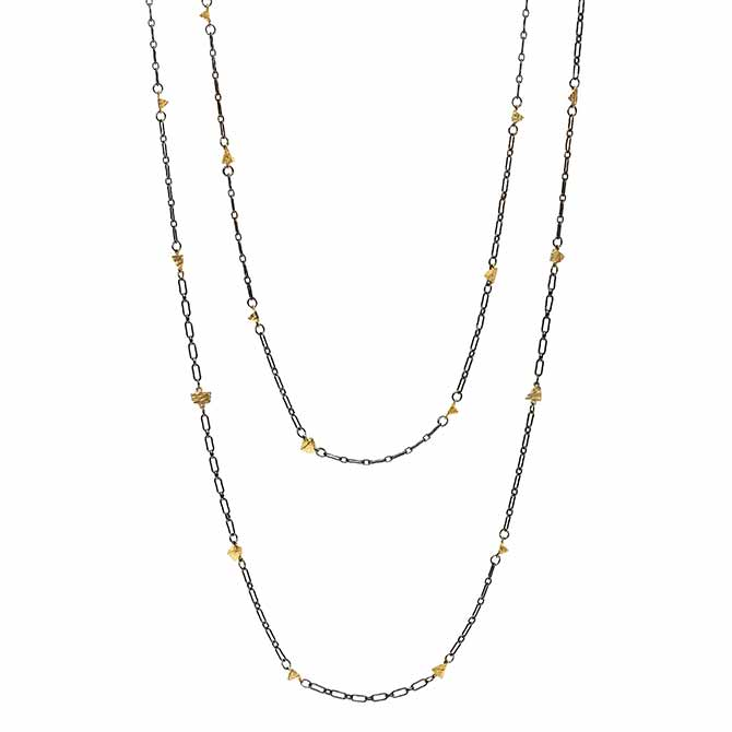 Dana Bronfman Pyramid chain necklace