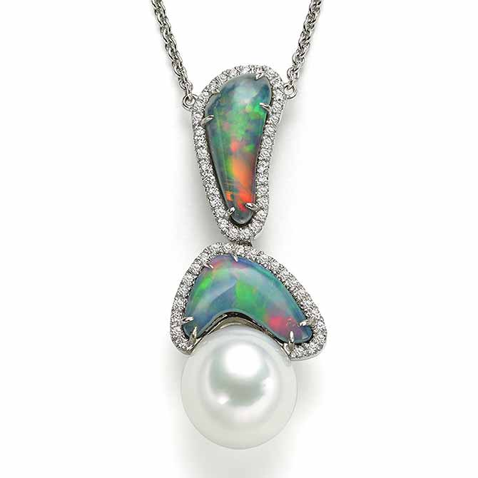 Az Pearls opal pendant