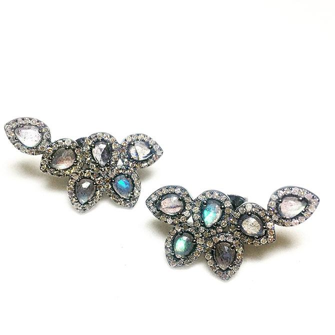 Pamela Bloom labradorite earrings