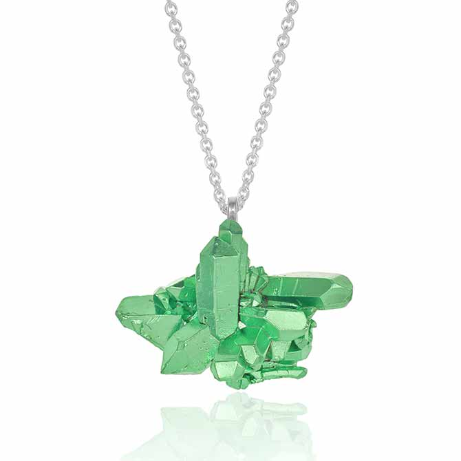 The Rock Hound green cluster HotRocks pendant