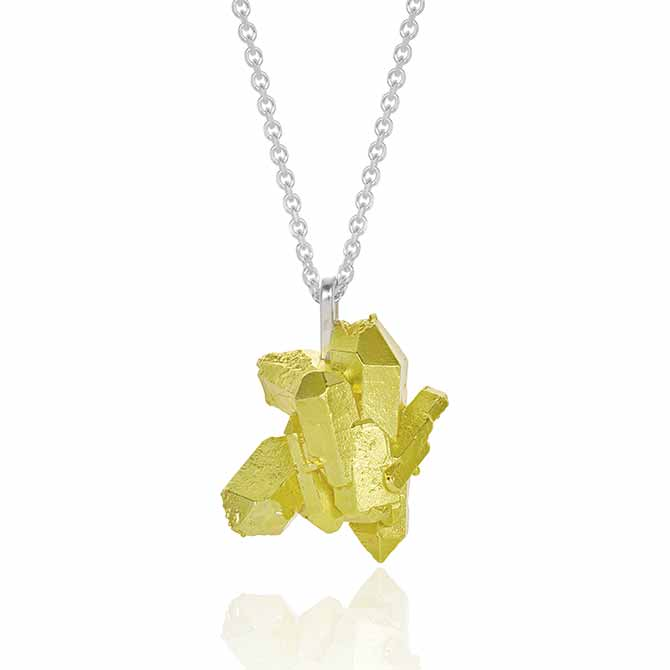 The Rock Hound yellow cluster HotRocks pendant