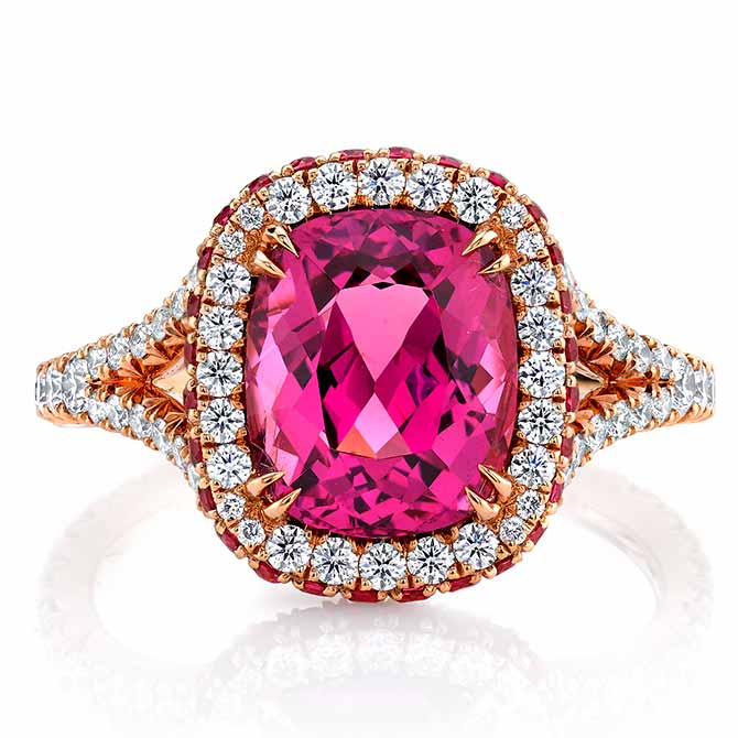 Omi Prive pink spinel ring