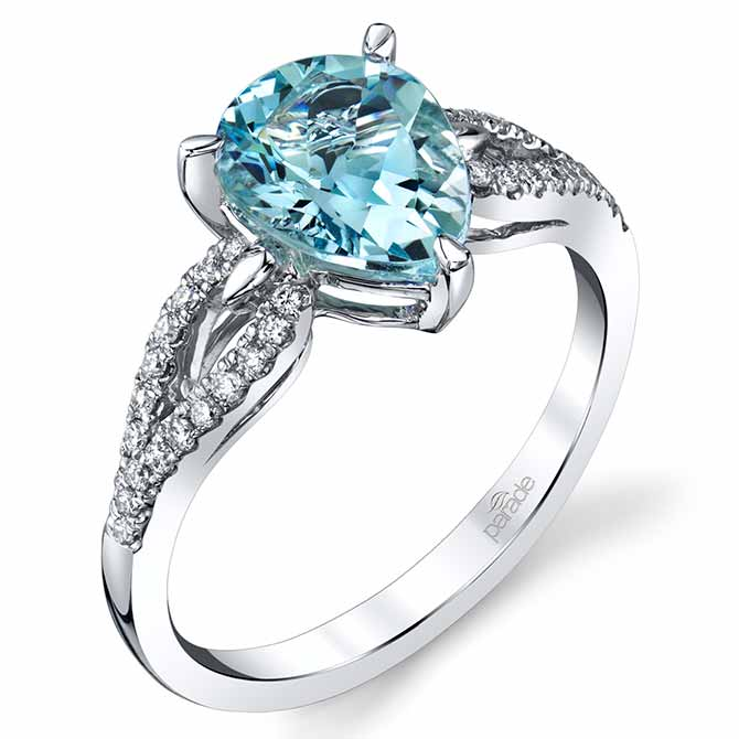 Parade Design blue zircon ring