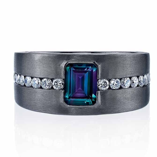 Omi Prive men's alexandrite ring