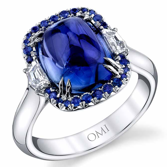 Omi Prive cabochon sapphire ring