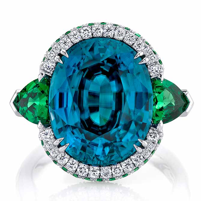 Omi Prive blue zircon ring