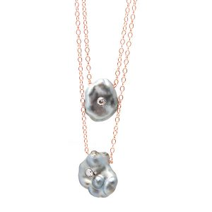 Samira 13 double keshi Tahitian pearl necklace