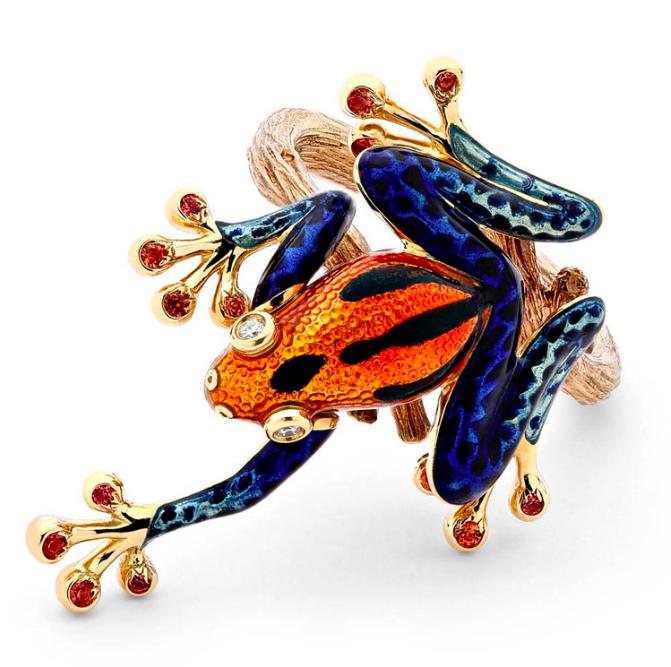 Leaping Tree Frog ring Carina Wong