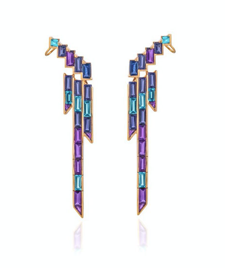 Tomasz Donocik earrings purple