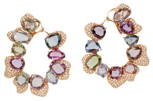 Vtse multicolor gemstone earrings