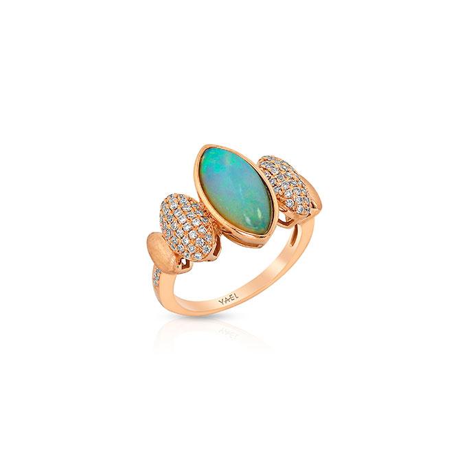 Yael Designs opal and diamond ring