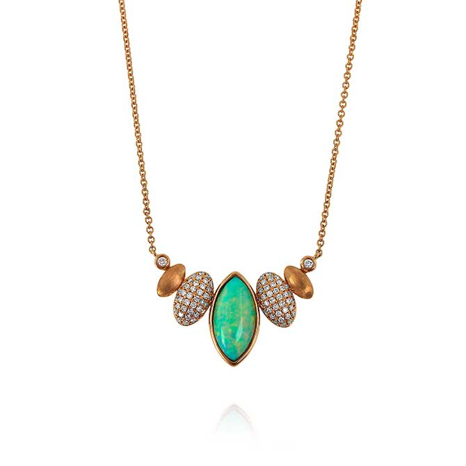 Yael Designs opal and diamond necklace