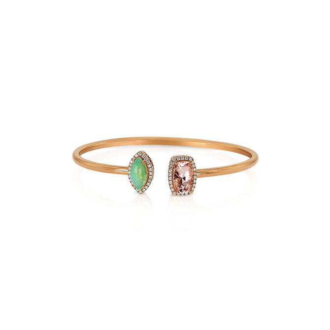 Yael Designs opal and morganite bracelet