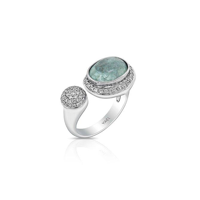 Yael Designs paraiba tourmaline and diamond ring