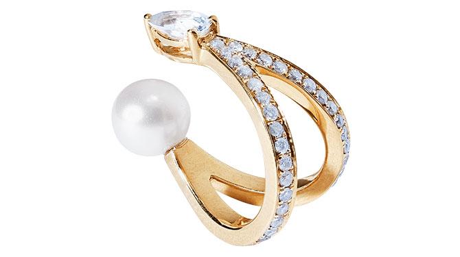 anissa kermiche pearl diamond ear cuff