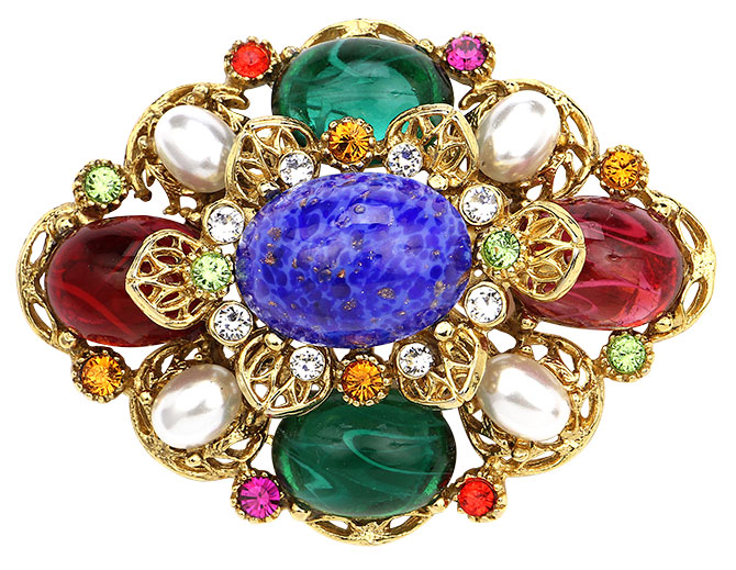 ben amun multicolor crystal brooch