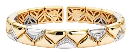 christopher designs gold memory cuff