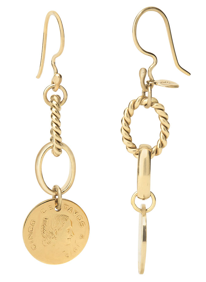 daniel espinosa memorias coin earrings