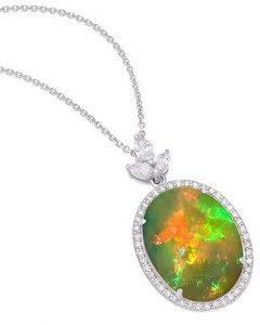 effy sunset opal pendant