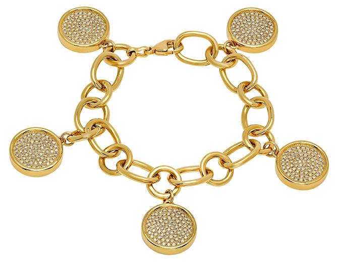 established diamond disc bracelet