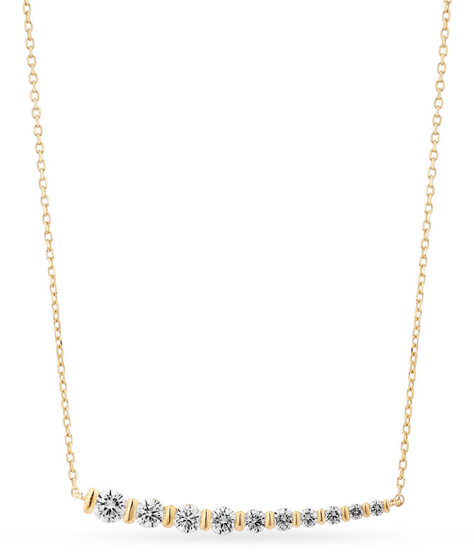 facet barcelona 18 inch diamond necklace