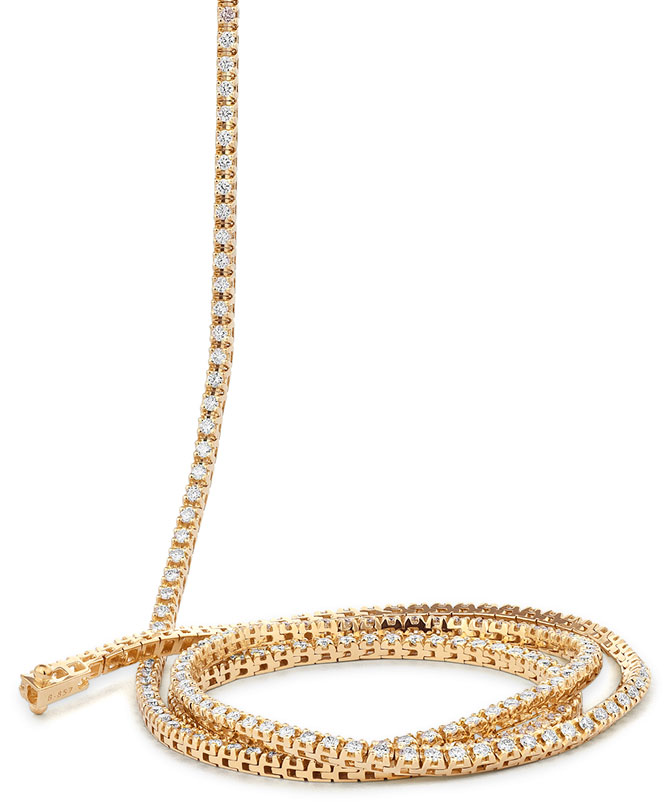 facet barcelona 36 inch diamond necklace