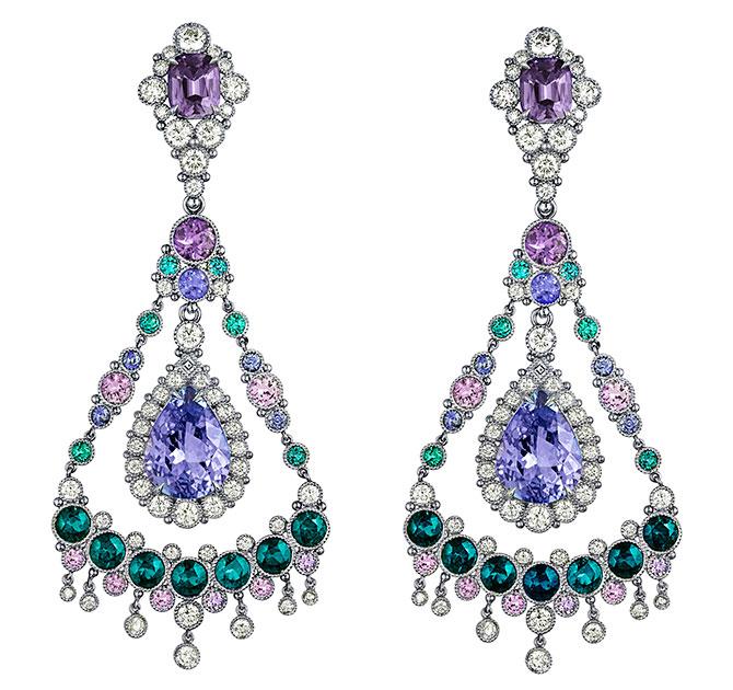 featherstone tanzanite sapphire earrings