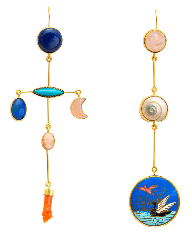 grainne morton mismatched earrings