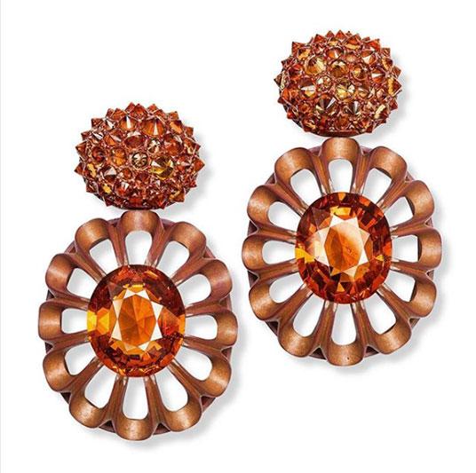 hemmerle garnet sapphire earrings