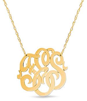jane basch monogram pendant