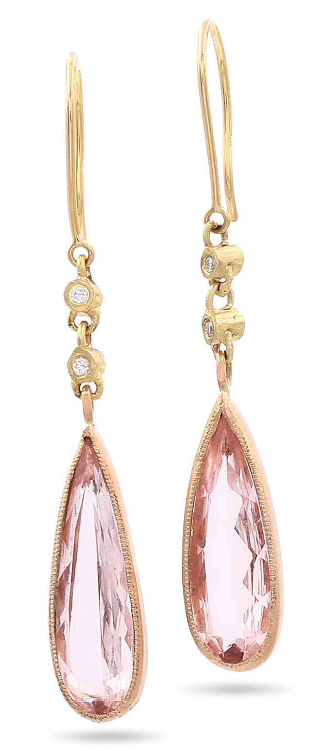 jennifer dawes hewn morganite earrings