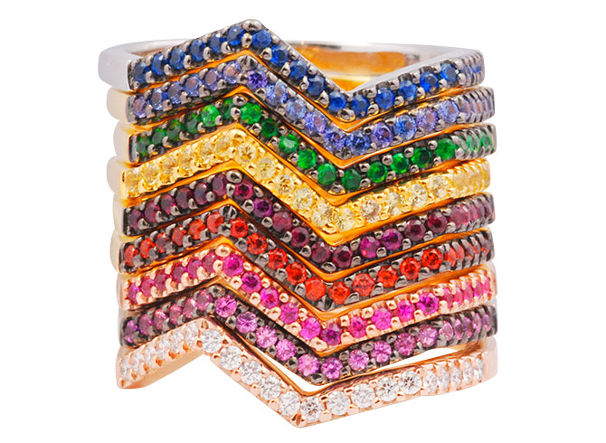 kavant sharart origami ziggy ring stack