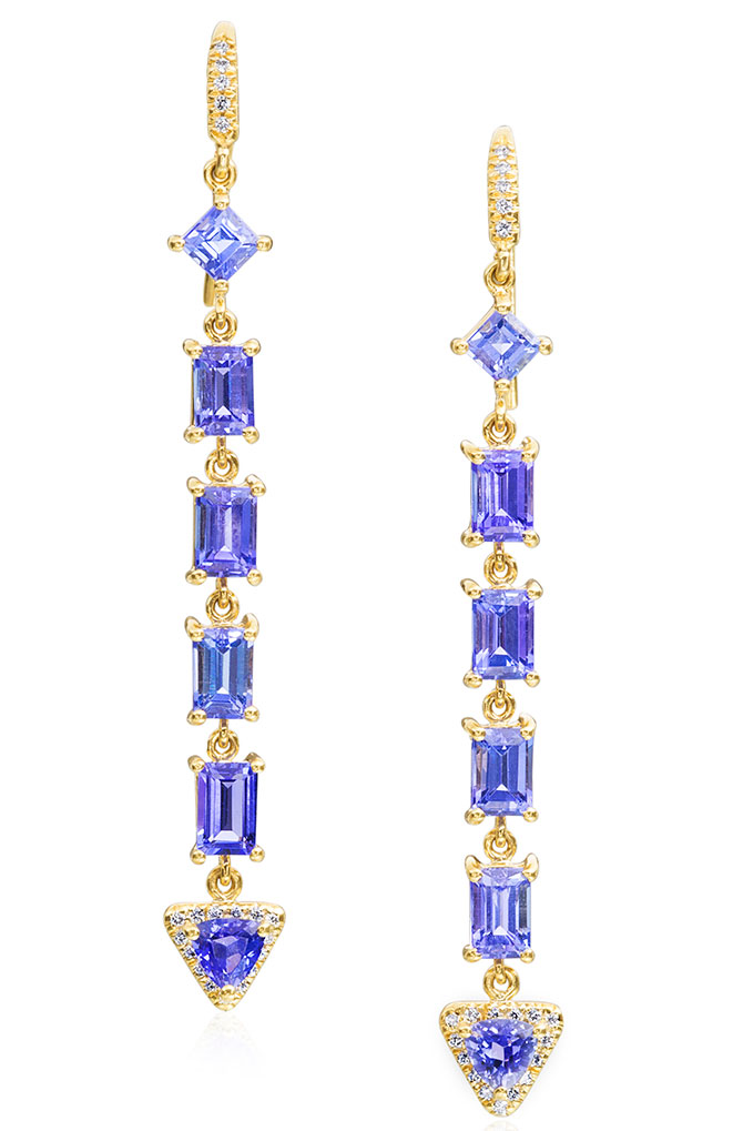lauren k tanzanite earrings