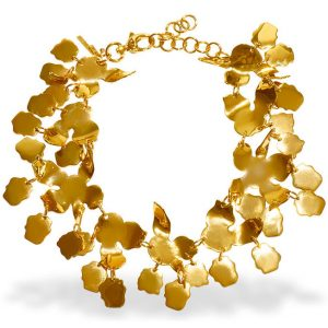lele sadoughi golden lily necklace