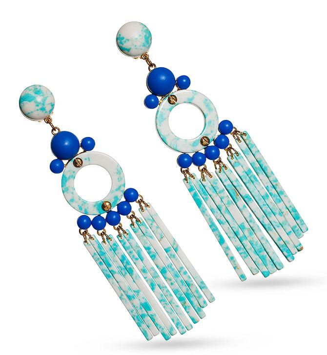 lele sadoughi samba earrings