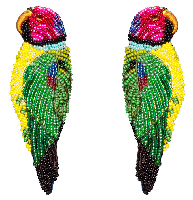 mignonne gavigan parrot earrings