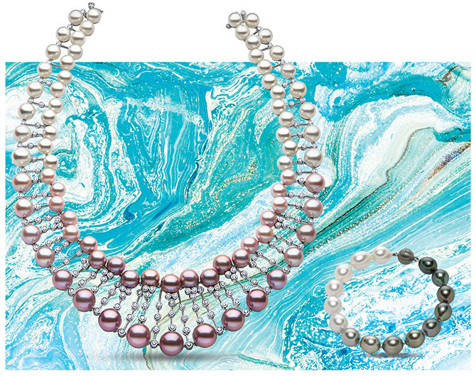 ombre pearl jewelry