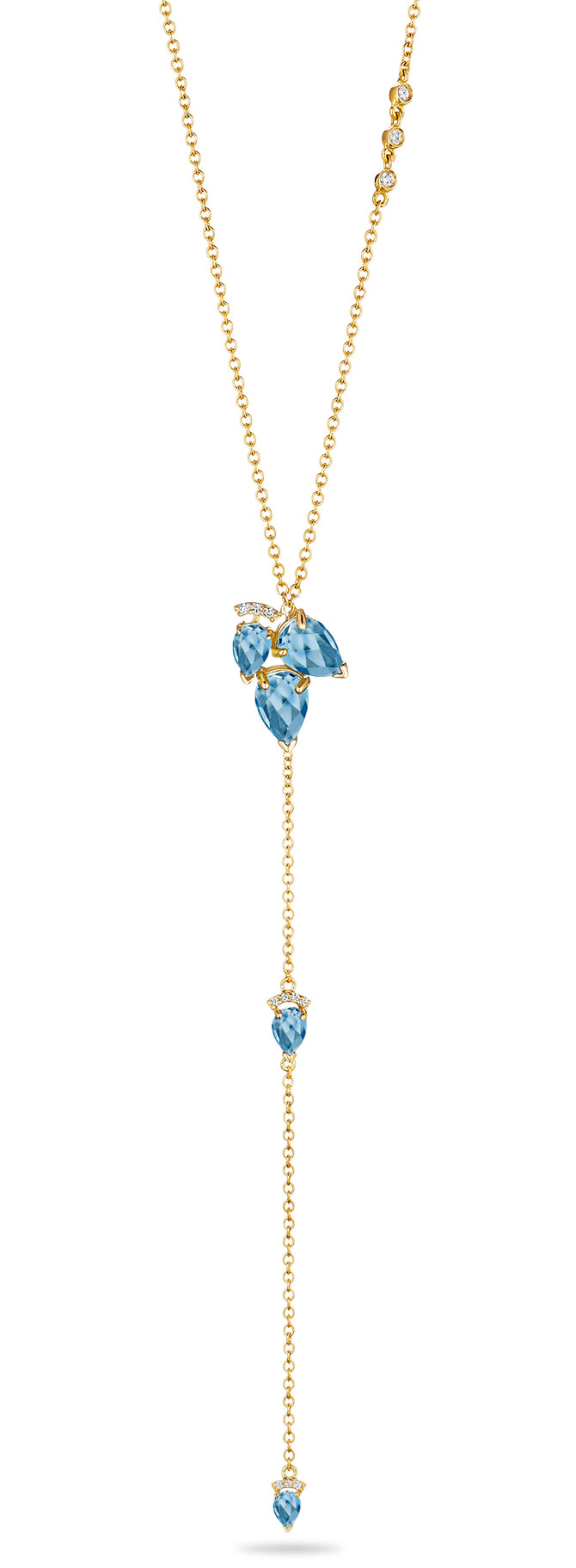 paige novick aquamarine lariat necklace