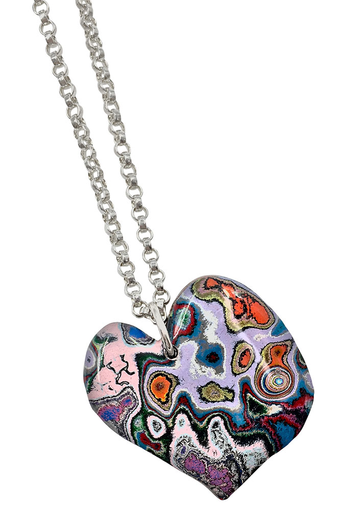 rebel nell graffiti heart pendant