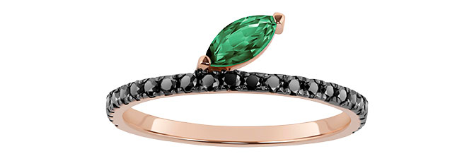 selin kent emerald black diamond ring