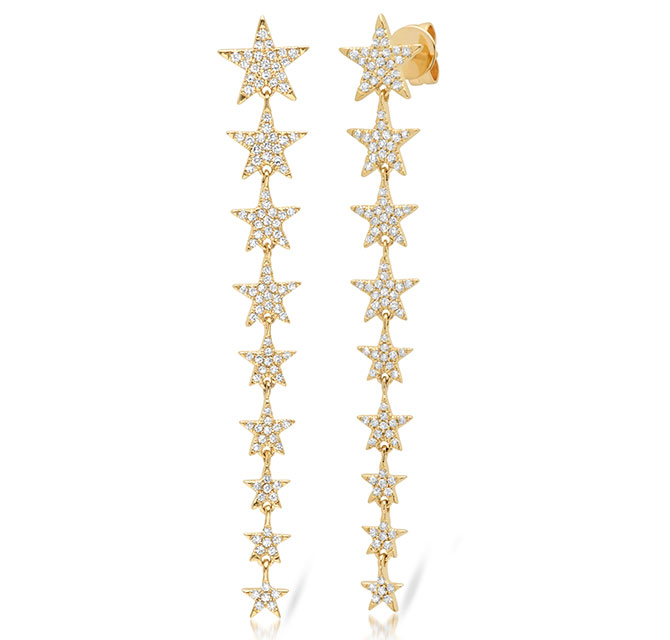 shy creation ascending star earrings
