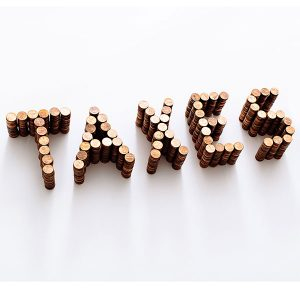 taxes spelled out in pennies