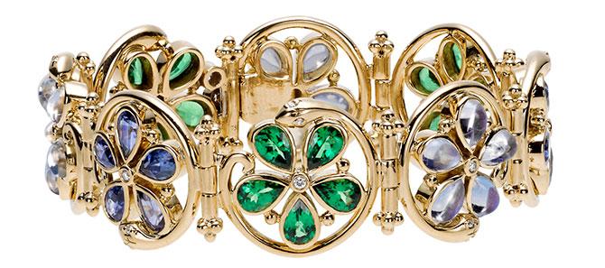 temple st clair flower serpent bracelet