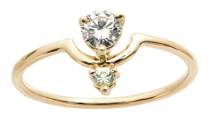 wwake diamond mint tourmaline ring