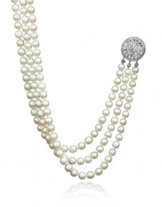Antoinette pearl and diamond necklace