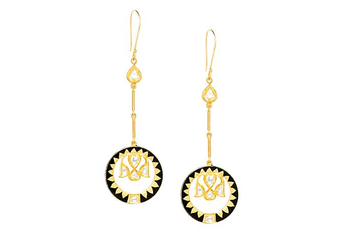 Agaro Ananta reversible earrings