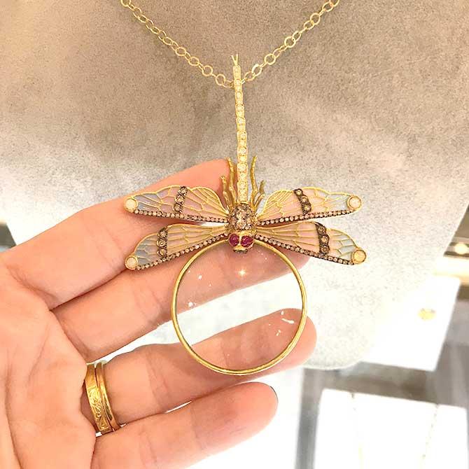 Aida Bergsen enamel pendant